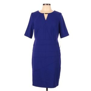 AGB ROYAL BLUE PARTY CAREER DRESS PLUS 20W